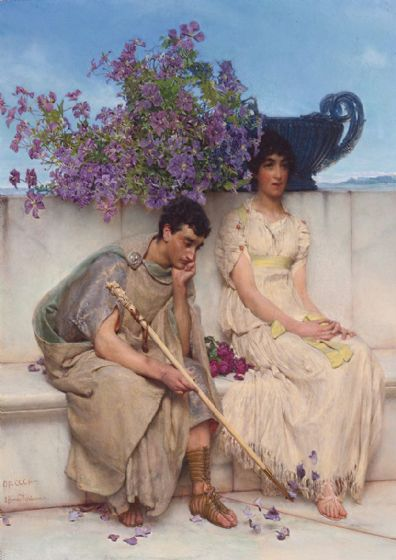 Alma-Tadema, Sir Lawrence: An Eloquent Silence. Fine Art Print/Poster. Sizes: A4/A3/A2/A1 (003800)